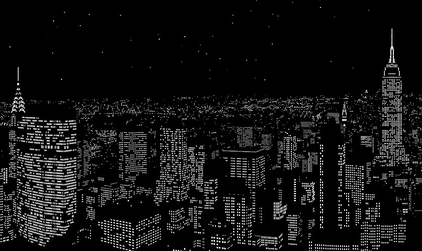Фото ночного города из окна