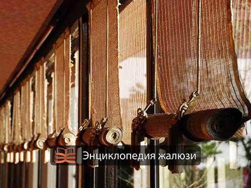 Бамбуковые рулонные шторы это наружные жалюзи