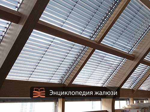 Монтаж наружных жалюзи на наклонные окна от солнца